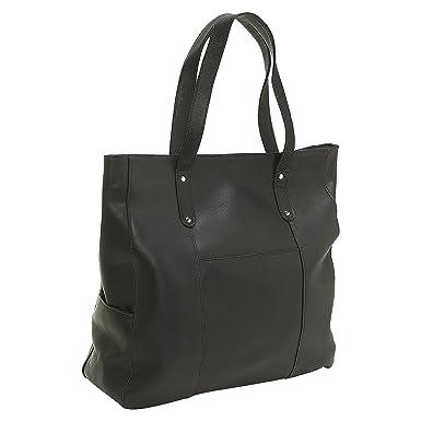 LeDonne Leather Large Slip Pocket Tote, Black  Handbags  Amazon.com ea97d344ce