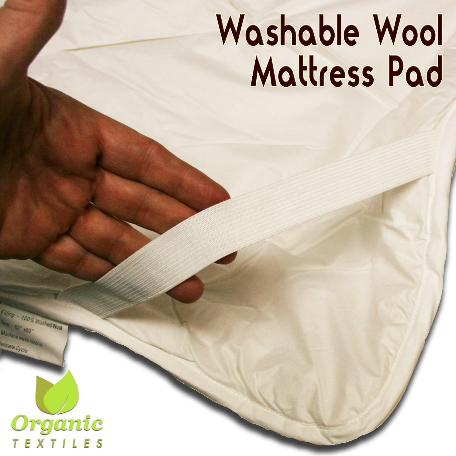 Amazon.com: Wool mattress pad with Organic Cotton covering - Twin XL: Home  & Kitchen