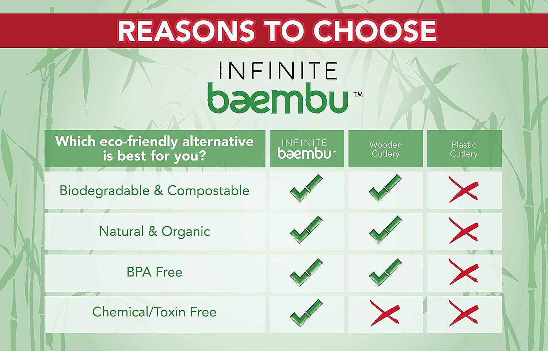 Cubertería de bambú desechable 100 % orgánico, respetuoso con el ...
