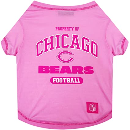 f54b8bfdff8 Amazon.com : Pets First Chicago Bears Pink T-Shirt, Large : Pet Supplies