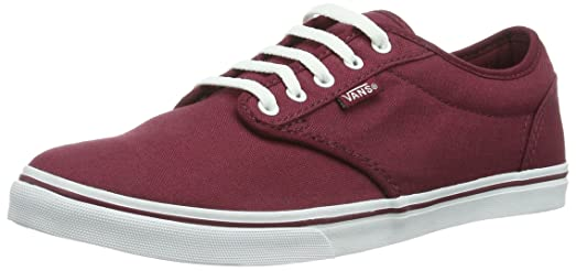 vans atwood low burgundy white