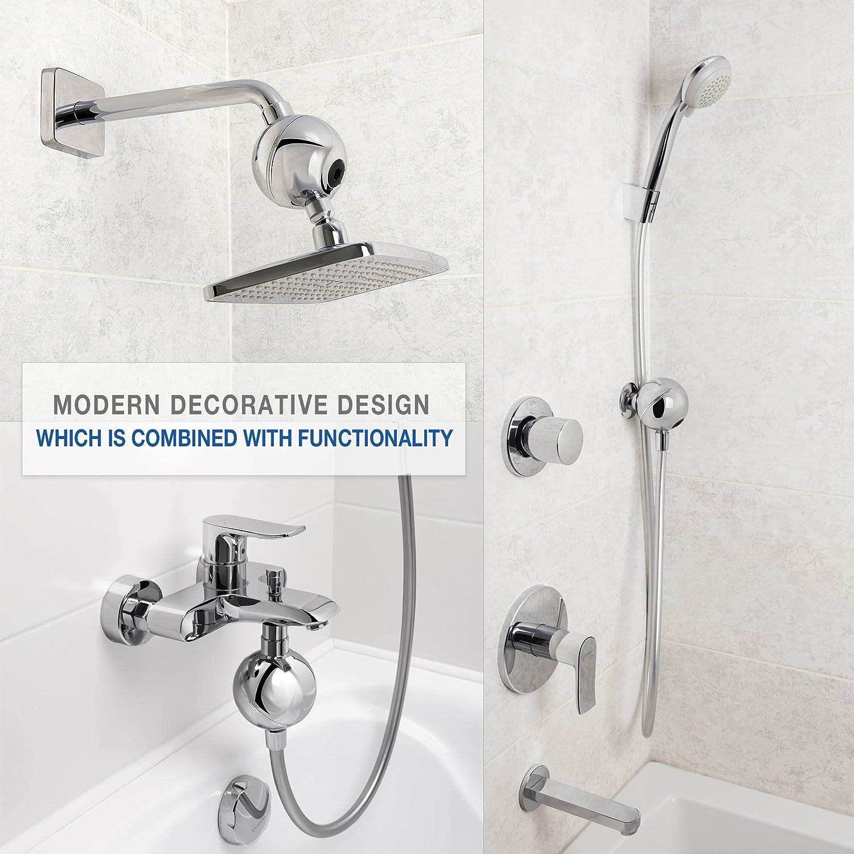 Shower Filter - Universal Adaptive Design - Shower Head Hard Water ...