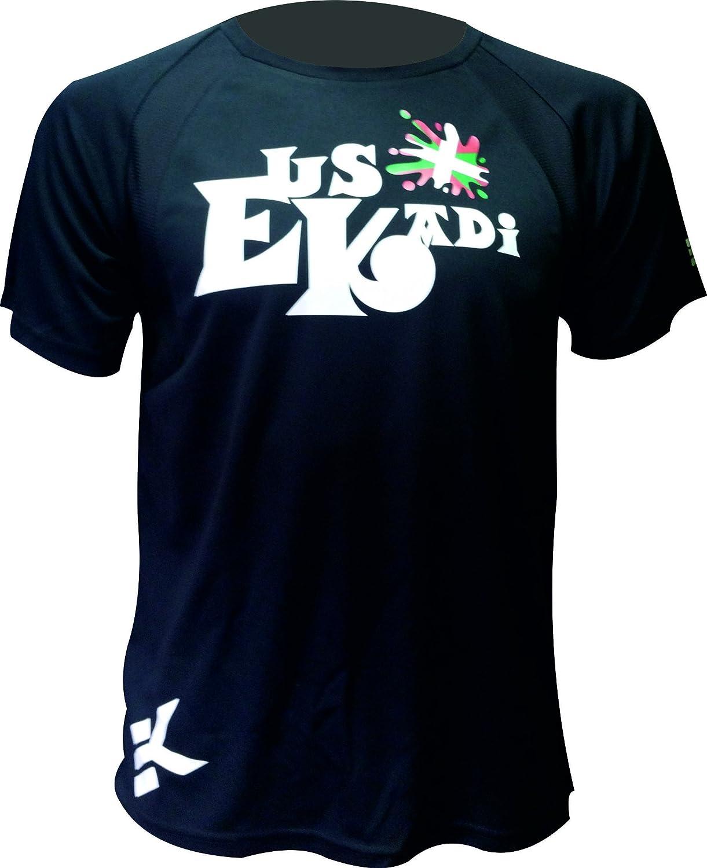 EKEKO SPORT Camiseta EUSKADI Manga Corta DE Running, Padel, Senderismo, Tenis,Color Negro …