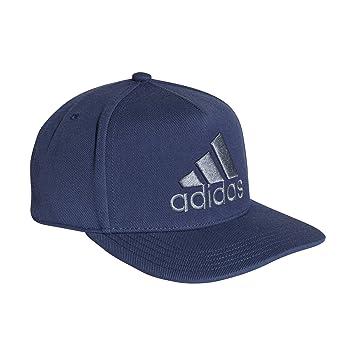 ff78adc6 adidas H90 Logo Hat OSFM Noble Indigo-Raw Steel at Amazon Men's ...
