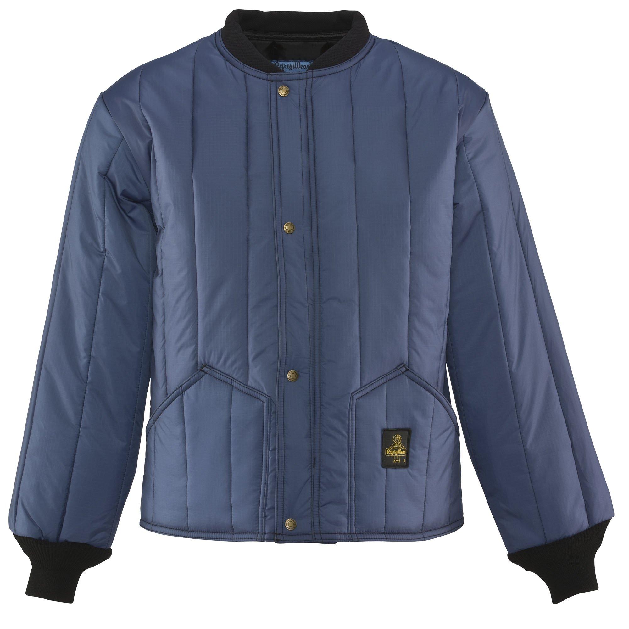Refrigiwear Men's Insulated Cooler Wear Workwear Jacket (Navy Blue, 2XL)
