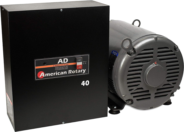 Rotary Phase Converter AD40 – 40 HP Digital Controls Heavy Duty HD CNC USA Made