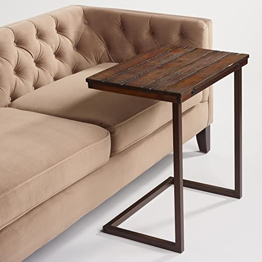 Amazon.com: Wood Laptop Table for Couch Recliner and Sofa - Slide ...