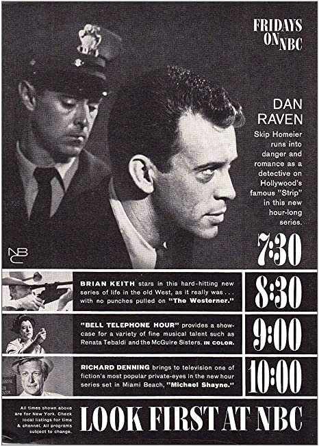 Amazon Com Relicpaper 1960 Nbc Television Fridays On Nbc Dan Raven Nbc Print Ad Posters Prints