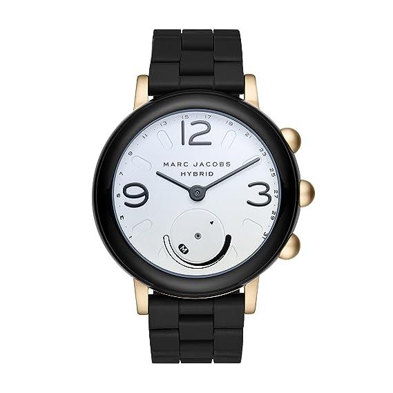 e439ed3f7013 Marc Jacobs - Reloj inteligente híbrido de aluminio y silicona para mujer