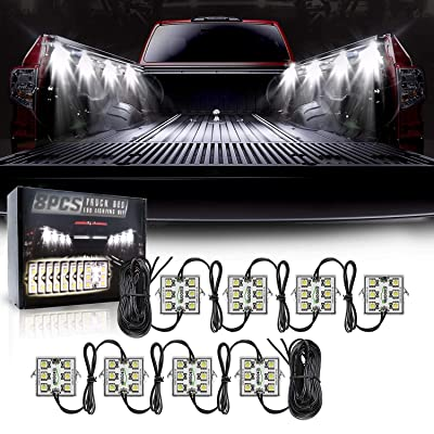 LED Truck Bed Lights Kit, 48 LEDs Truck Cargo Pickup Bed Lighting Kit with Switch, IP68 Waterproof - 8PCS: Automotive [5Bkhe0110874]