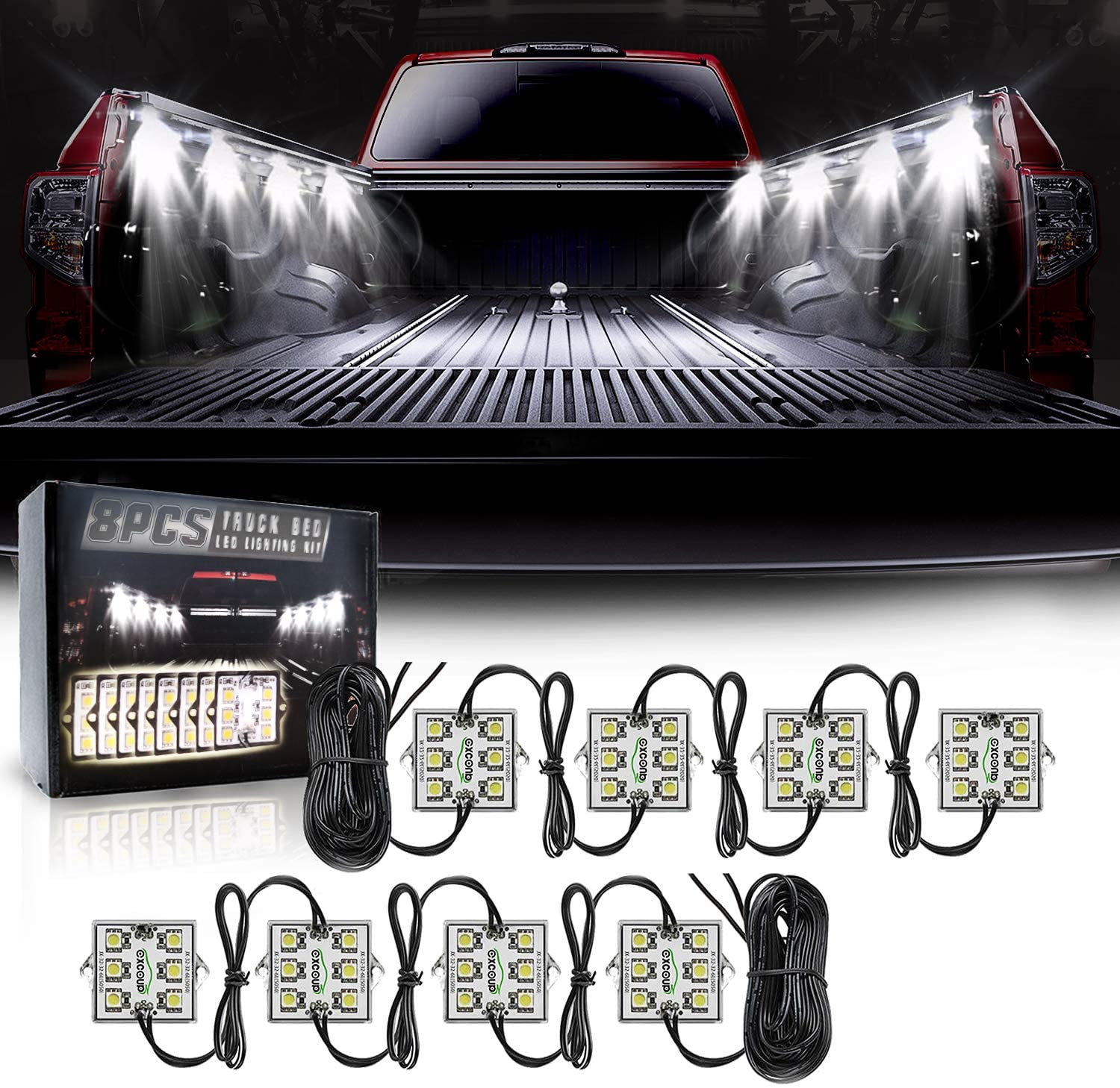 Excoup LED Lighting Kit for Truck Bed