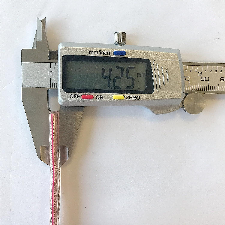Cavo per altoparlante M/&G Techno/® 50 m 2 x 2,5 mm/² CCA bianco