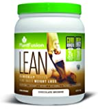 PlantFusion Lean, Clinically Tested Weight Loss Protein Powder, Chocolate Brownie, No Soy or Rice, 21g Protein, 20 servings, 14.8oz Tub