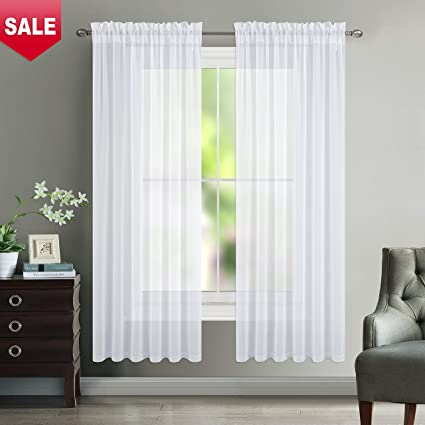 Amazon NICETOWN Sheer Curtain Panels For Dining Room Semi