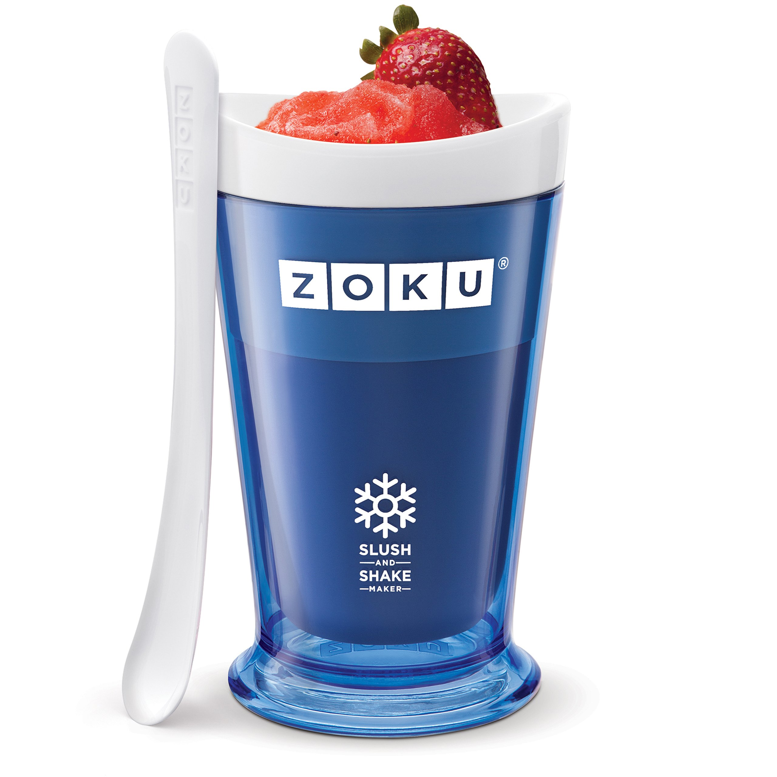Zoku Slush and Shake Maker, Compact Make and Serve Cup with Freezer Core Creates Single-serving Smoothies, Slushies and Milkshakes in Minutes, BPA-free, Blue by Zoku