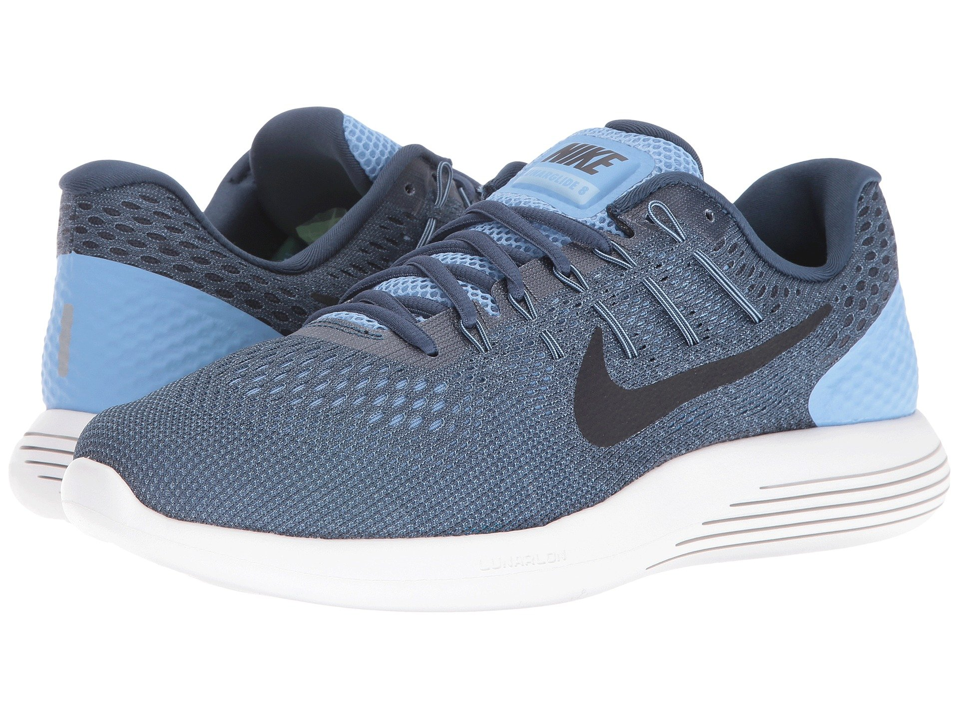 detailed look 9cb9f 26a6a ... australia galleon nike mens lunarglide 8 light blue black squadron blue  6 m us 9dd25 4aeed