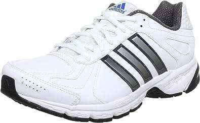 adidas Performance duramo 5 lea m - Zapatillas de correr de cuero hombre, blanco - Weiß (RUNNING WHITE FTW / METALLIC SILVER / PRIME BLUE S12), 39.3333333333: Amazon.es: Zapatos y complementos