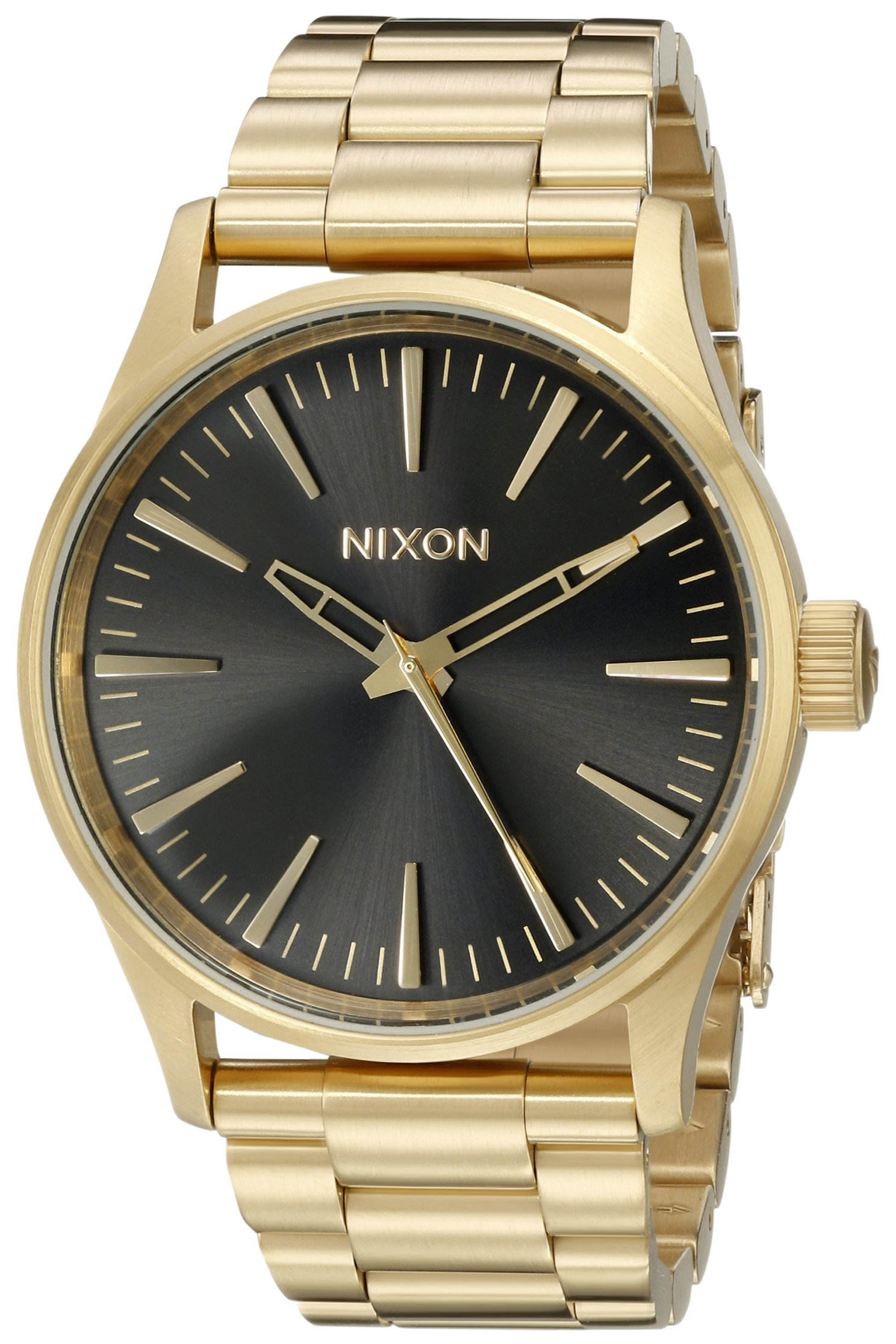 Nixon Men's A4501604 Sentry 38 SS Analog Display Analog Quartz Gold Watch by NIXON