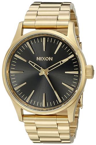 Nixon A4501604 - Reloj de Pulsera Hombre, Acero Inoxidable, Color Oro: Amazon.es: Relojes