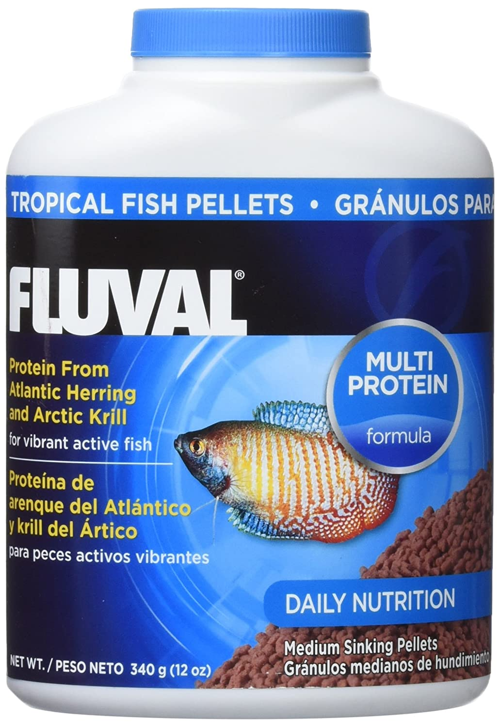 Fluval Tropical Sinking Pellet Food for Medium Fish Size  340 g
