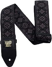 Ernie Ball P04093 Regal Black Jacquard Guitar Strap, 182 cm