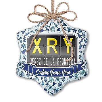 Amazon.com: NEONBLOND Custom Tree Ornament XRY Airport Code ...
