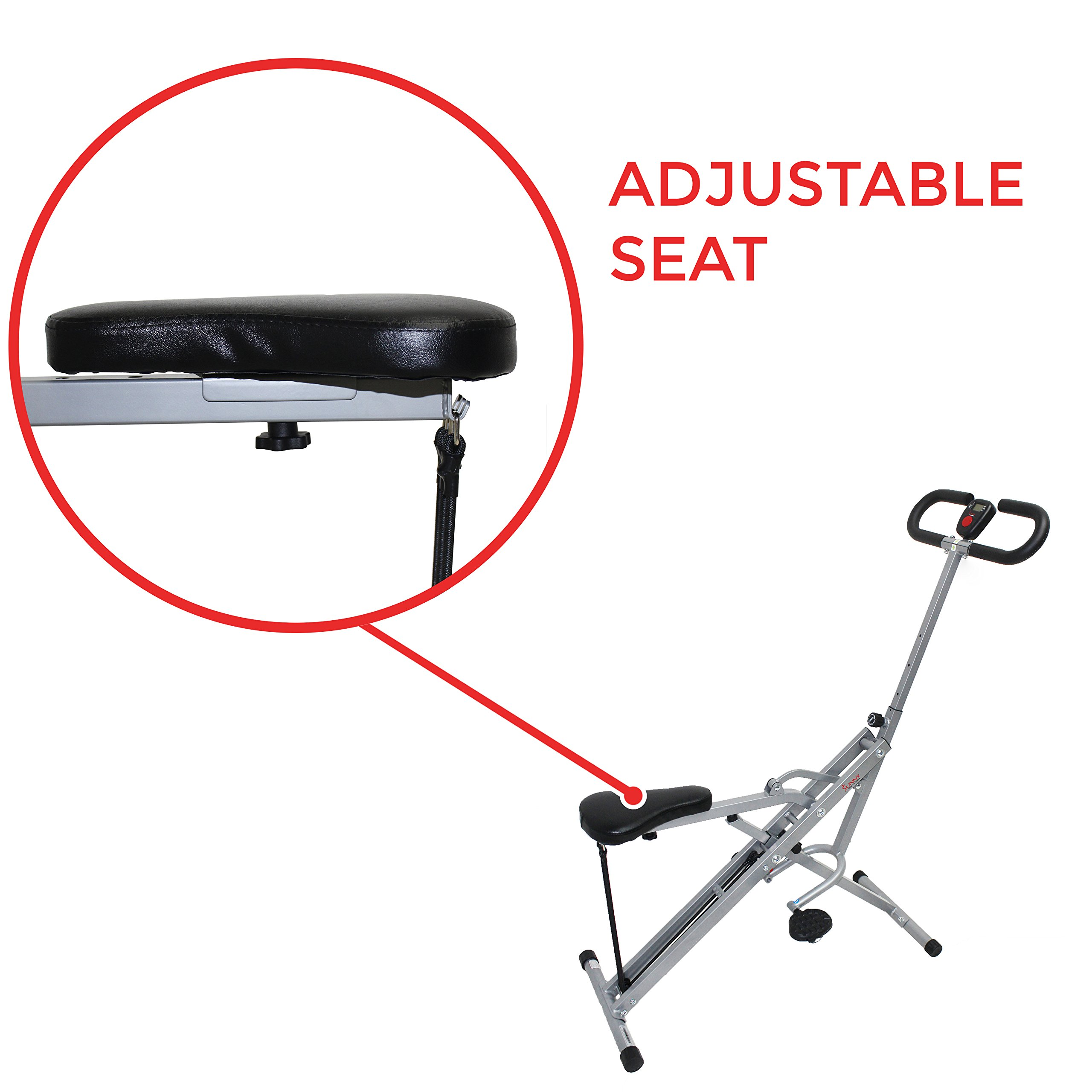 Sunny Health & Fitness Squat Assist Row-N-Ride Trainer for Squat Exercise and Glutes Workout by Sunny Health & Fitness (Image #7)