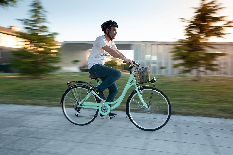 Conor Bicicleta Soho Menta. Bicicleta con Cesta para Ciudad Dos ...