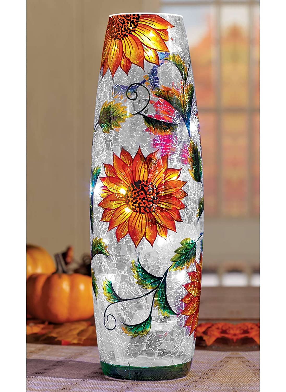 Beautiful glass Sunflower Vase Beautiful Floral Gift