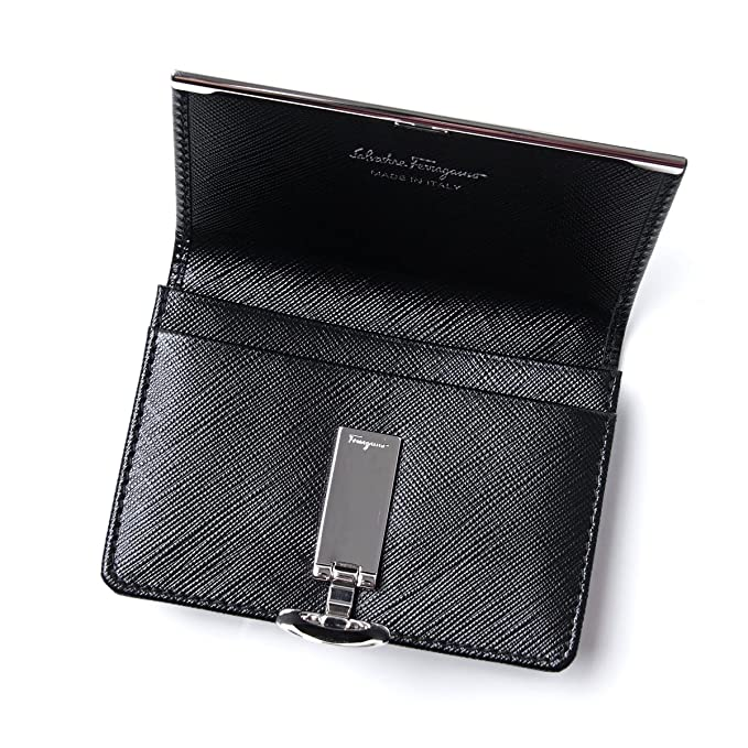 Salvatore Ferragamo tarjeta caso Calf Nero negro serie 22 C110 0585146 Ladies: Amazon.es: Ropa y accesorios