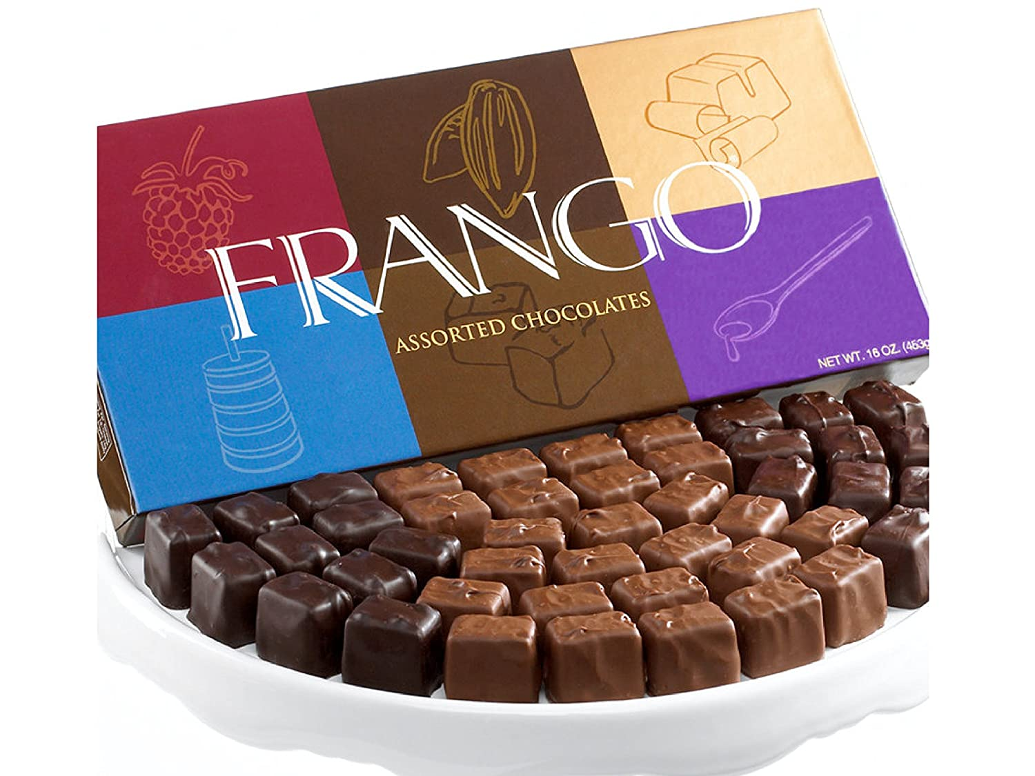 Amazon.com : Frango Chocolates 45-Pc. Assorted Box of Chocolates ...