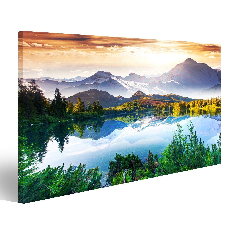 islandburner Quadro moderno Lago montagne paesaggio Stampa su tela - Quadro x poltrone salotto cucina mobili ufficio casa - fotografica formato XXL