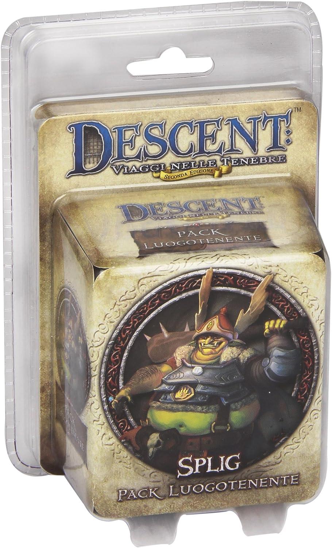 Giochi Uniti Juegos de EE.UU. - Descenso Tablero de Juego, Teniente Splig, Accesorios para Descent: Amazon.es: Juguetes y juegos