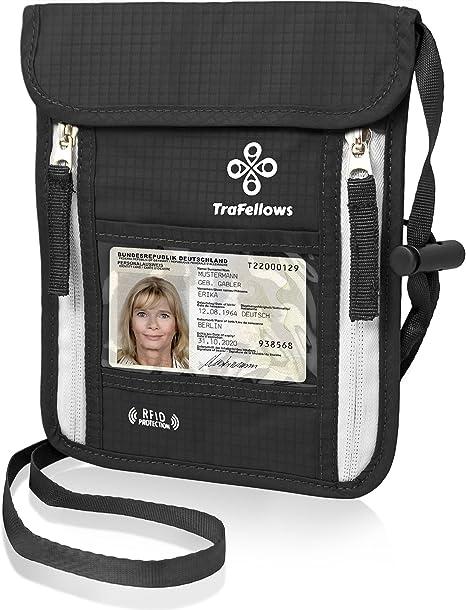 Voyage Sécurité Cou Portefeuille Passport Argent Carry étui Sac Pochette Sac à Main Zip