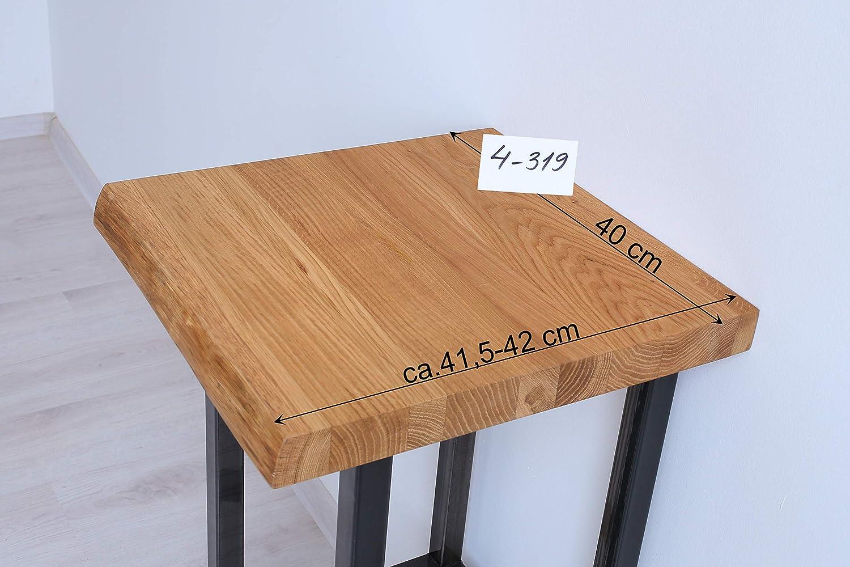 BestLoft® Waschtischplatte Waschtischplatte Waschtischplatte № 4-319 (Länge  40cm  Breite  41,5-42cm) Waschtisch Eiche massiv 40mm Baumkante Waschtischkonsole (40cm) cc6299