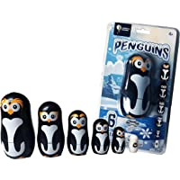 Penguin Family Nesting Dolls - 6 Unique Matryoshka Penguins - All Hollow to Fit Inside Each Other