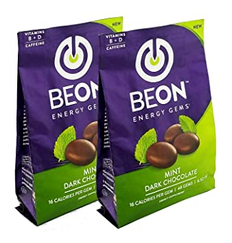 BeON Energy Boost Gems, 133 mg de cafeína y B6 B12 D ...