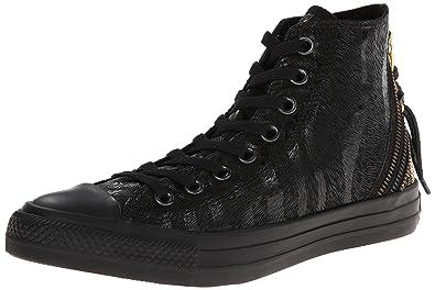 76991e6283dc Converse Womens Chuck Taylor All Star Triple Zip Hi Black Gold Sneaker - 6