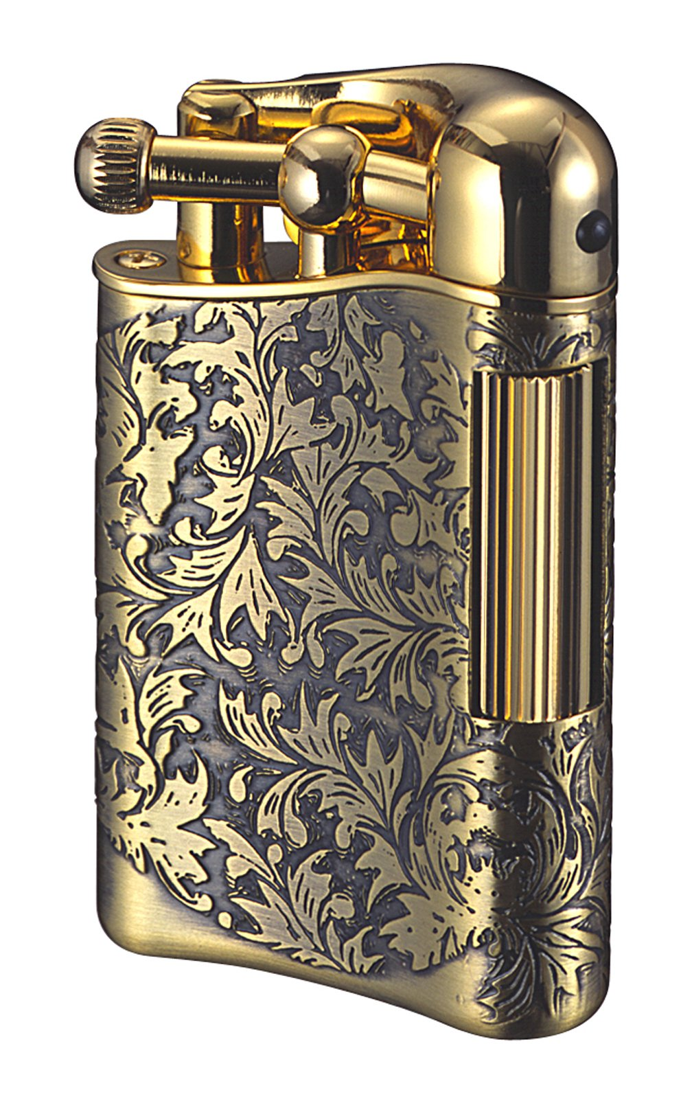 Sarome Flint Lighter for Pipe PSD12-11 Antique brass arabesque