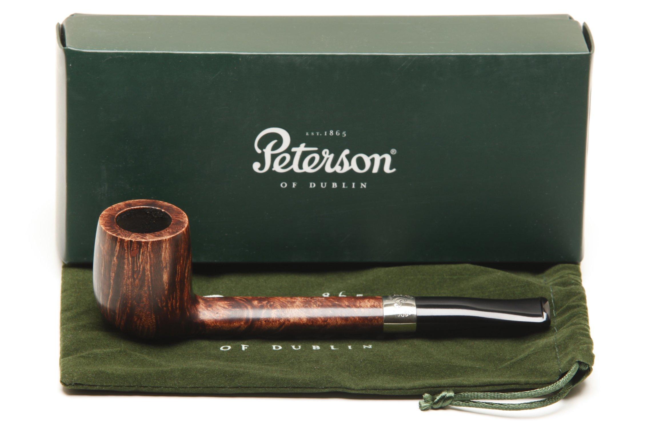 Peterson Aran 264 Nickel Band Tobacco Pipe Fishtail