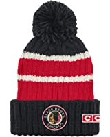 Chicago Blackhawks Men's CCM Cuffed Watch Pom Cap Knit Hat