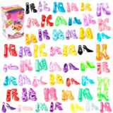 50 Pairs Different High Heel Shoes Boots Accessories For Barbie Doll