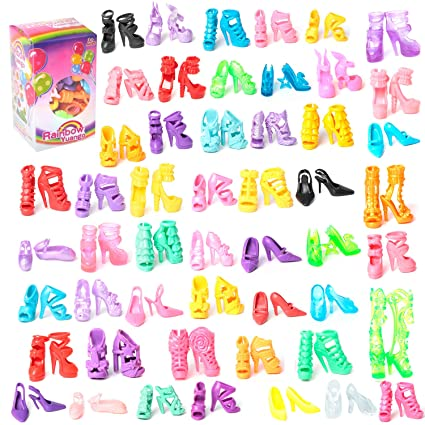 Image Unavailable. Image not available for. Color  50 Pairs Different High  Heel Shoes Boots Accessories For Barbie Doll 9d899ea07ab5