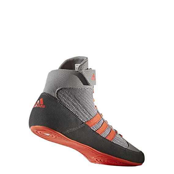 online store f843c 898bd Amazon.com  adidas Men s Boy s HVC2 Wrestling Mat Shoe Ankle Strap 2 Colors  AQ3325  Clothing