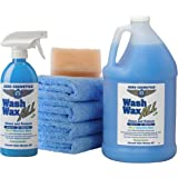 Wet or Waterless Car Wash Wax Kit 144 oz. Aircraft Quality for your Car RV Boat & Motorcycle. Guaranteed the Best Wash Wax Anywhere, Anytime Home Office School Garage Parking Lots Parks