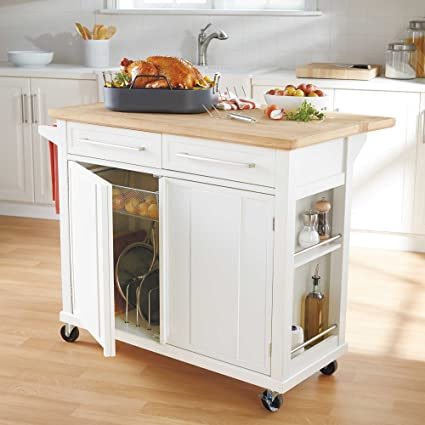 Charmant Style And Function Real Simple Rolling Kitchen Island, Easy And Convenient,  Great For Small