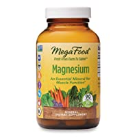 MegaFood, Magnesium, Helps Maintain Nerve and Muscle Function, Essential Mineral Dietary Supplement Vegan, 90 Tablets (90 Servings) (FFP)