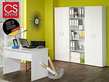 Büromöbel weiß  Büro-Kombi Büromöbel Schrank Regal Beistellschrank Beistellregal ...