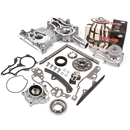 Fits 85-95 Toyota 2 4 SOHC 8V 22R 22RE 22REC High Performance Heavy Duty  Timing Chain Kit w/Timing Cover Oil Pump GMB Water Pump