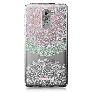 CASEiLIKE Funda Honor 6X, Carcasa Huawei Honor 6X/Mate 9 Lite/GR5 2017, Arte de la mandala 2092, TPU Gel silicone protectora cover